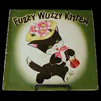 Vintage Children's book, Fuzzy Wuzzy Kitten, Whitman Publishing, 1947