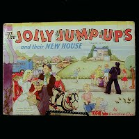 Vintage Book: The Jolly Jump-Ups and Their New Home, Geraldine Clun 1947