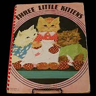 Vintage Children's book, The Three Kittens, Saalfield Publishing, 1951
