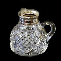 Antique EAPG Clear Sunbeam Syrup Pitcher, 1901 McKee Glass Co
