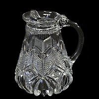 Antique EAPG Clear Syrup Pitcher, 1900's