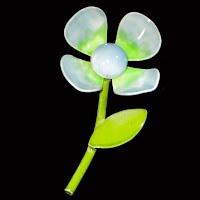 Vintage metal Flower Enamel Pin