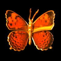 metal Vintage Butterfly Pin