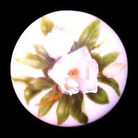 Vintage Round Ceramic Pin