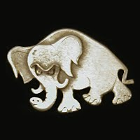 Vintage metal Elephant Pin