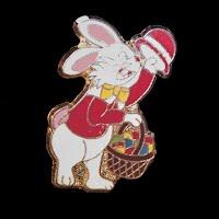Vintage Enamel Easter Bunny Lapel Pin