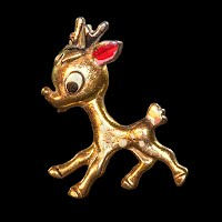 Vintage Reindeer Pin