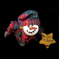 Vintage Snowman Pin