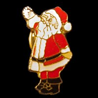 Vintage Christmas Santa Lapel Pin