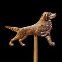 Antique Metal Dog Stick Pin