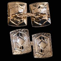 Antique 14K White Gold Cufflinks