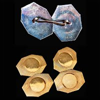 Antique 14K Gold Cuff Links