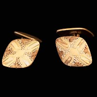 Antique S and S Gold Cuff Links
