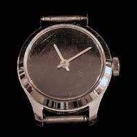 Vintage Black Face Watch