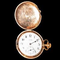 Antique Illinois 17 Jewel Railroad Pocket Watch