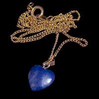 vintage blue heart necklace