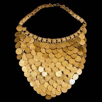 Vintage metal coin necklace
