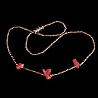 vintage silver and coral necklace