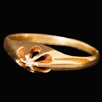 Antique Baby Ring with Diamond 10K gold