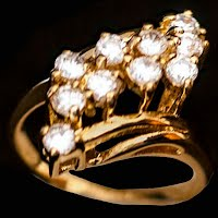 Antique 18K Heavy Electoplate Gold  Ring