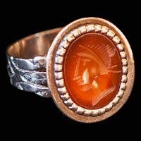 Antique Egyptian Head Ring