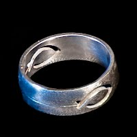 Vintage Jewelry, Vintage silver cut out fish ring