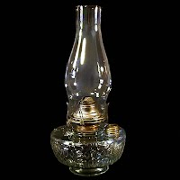 Antique Wall Bracket Glass Kerosene Lamp, 1900's