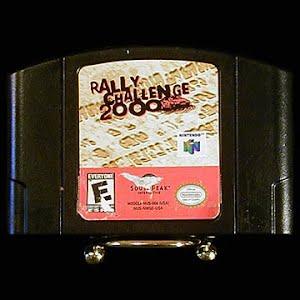 Vintage Nintendo 64 N64 Rally Challenge 2000 Game Cartridge