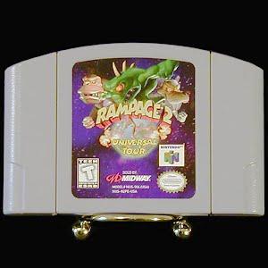 Vintage Nintendo 64 N64 Rampage 2 Game Cartridge