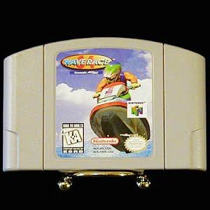 Vintage Nintendo 64 N64 Wave Racer Game Cartridge