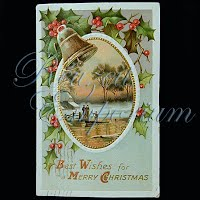 Antique 1911 Christmas Post Card, Best Wishes for a Merry Christmas