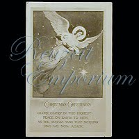 Antique 1914 Christmas Angel Post Card, Christmas Greeting