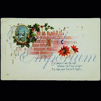 Antique 1915 Embossed Christmas Post Card, A Happy Christmas