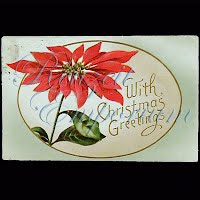 Antique 1912 Embossed Christmas Post Card, With Christmas Greetings