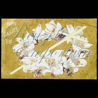 Antique Easter Postcard, Happy Easter Tide