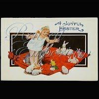 Antique Embossed Easter Post Card, A Joyful Easter