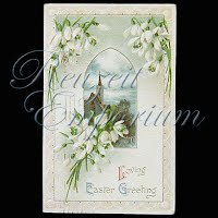 Antique Embossed 1912 Easter Post Card, Loving Easter Greeting