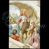 Antique 1910 Easter gel Jesus Postcard, Peaceful Easter to You
