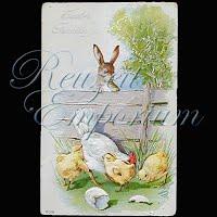 Antique 1921 Embossed Easter Post Card, Easter Greetings