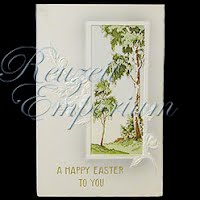 Antique Easter watercolor Postcard, A Happy Easter to You