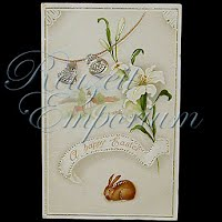 Antique 1915 Easter gel Postcard, A Happy Easter