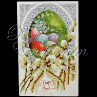 Antique Embossed Easter Postcard, A Happy Easter