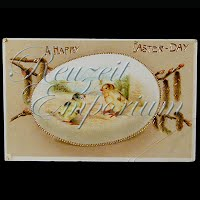 Antique 1914 Easter gel Postcard, A Happy Easter Day