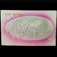Antique 1908 Embossed Easter Postcard, Easter Greetings
