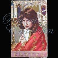 Antique 1910 Easter Religious Postcard