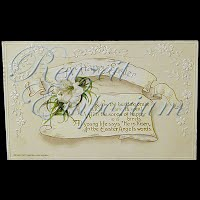 Antique 1921 Easter Embossed Postcard, A Happy Easter