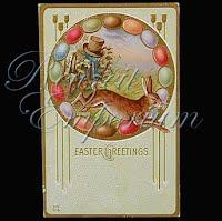 Antique 1912 Embossed Easter Postcard, Easter Greetings