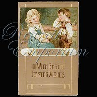 Antique 1908 Embossed Easter Postcard, With Best Easter Wishes