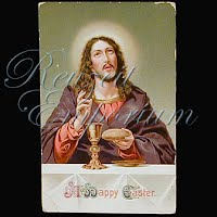 Antique Religious 1913 Jesus Easter Postcard, A Happy Easter