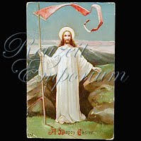 Antique Religious 1912 Jesus Easter Postcard, A Happy Easter